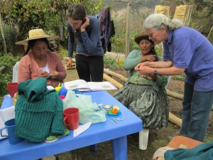 Debora and Selina Working with Doñas Antonia and Màxima