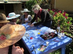 Amanda Teaching a Jewelry Making Class, August 2013