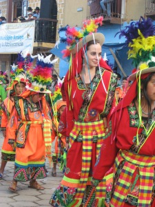 Dancing Tinku at the Annual Fiesta