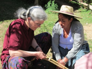 Taking a Weaving Class from Doña Màxima