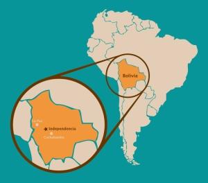 Locating Independencia, Bolivia