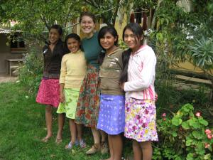 Proud Chicas Showing Off the Skirts They Made