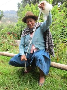 Doña Antonia Spinning on a Club de Artesanas Day