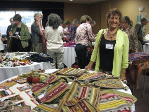 Irene at the PAZA Marketplace Table, WARP Conference, 2012