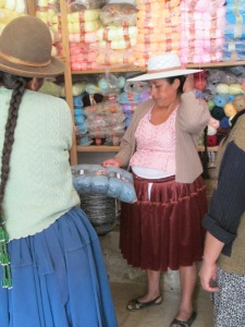 Doñas Máxima and Antonia Mulling Over Yarn Choices at Local Yarn Shop