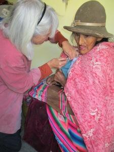Doña Nicoleza in a Rare Visit to Town Receives Her Spinzilla Button