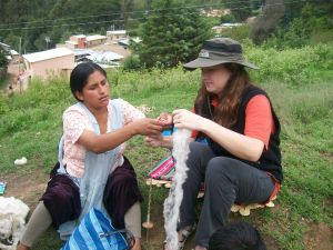 Vilma Teaches Katie Simmons, 3 Time Volunteer and Friend to Hand Spin