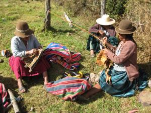 Doña Casimira and Doña Narciza Assembling Chuspas