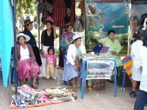 The Weavers' First Craft Fair, Cochabamba, 2007