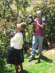Doña Narciza and Jonathan Share a Laugh