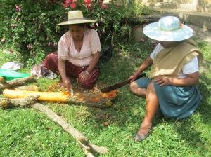 Preparing Sumaqhaya for the Dye Pot