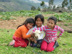 Doña Màxima´s Granddaughters with Their New Lamb