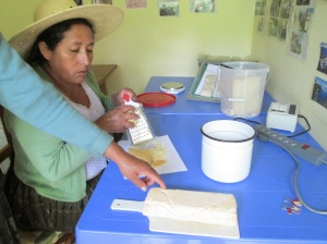 Checking 1st Batch of Carrot Soap, Grating to Make 2nd Batch