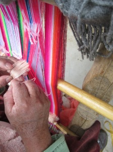 Tying a Heddle String for One of the Columns of Figures