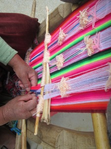 Selecting the Warp Threads that will Create the Figure