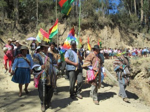 Mayors Leading Parade, Doña Màxima´s Husband Wearing Her Weavings is in Center