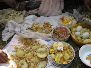 Communal Lunch in Huancarani