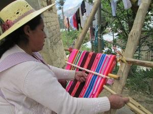 Doña Máxima Weaving the 2nd Aguayo