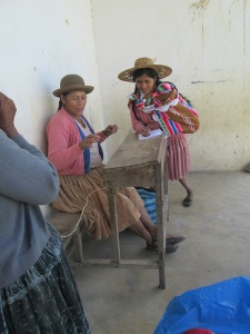 Doña Antonia Measuring While Maribel Records