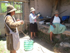 Rewinding Doña Rina´s Measured Yarn