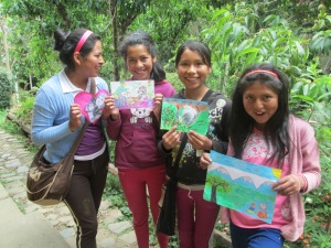 The CdA Chicas with Their Drawings