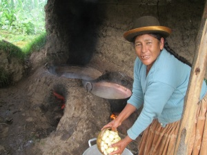 Doña Antonia Adding Potatoes to the Copper Pot