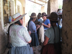 Prepping Skeins for the Dye Pot, Huancarani