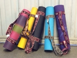 These Yoga Mat Straps Found Appreciative Owners in WA.  Photo Credit: Jenny Heard