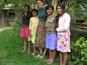 The Chicas Made Many Skirts Using the Pattern and Method Kelsey Taught Them