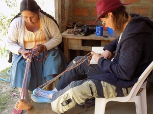 Amy´s Weaving Class with Doña Máxima