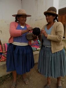 Doña Toribia Admires Doña Eulogia´s Black Yarn