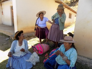 Doña Alicia Being Measured for Her Petticoat Prize