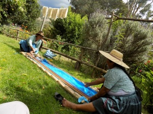 Warping Adviana´s Weaving That is Destined for Florida